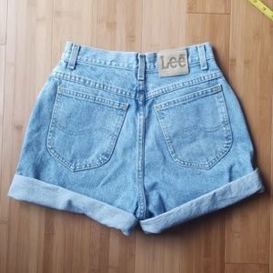 Lee Shorts - Lee Vintage High-waisted Denim Shorts
